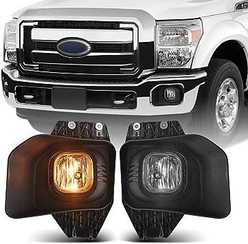 Bumper Driving Fog lamp Kit Complete Set Fog Light with Mounting Kit and Bezel Cover BUNKER INDUST LED Fog Lights for Ford F250//F350//F450 2011 2012 2013 2014 2015 2016