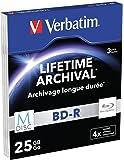 Verbatim 43827 - Disco BD-R de 25 GB, 4x
