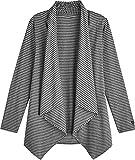 Coolibar UPF 50+ Women's Sun Wrap - Sun Protective (Large- Grey Heather Stripe)