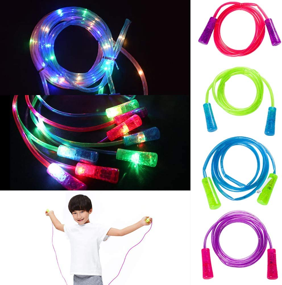 Foreen LED Flashing Kids Jump Skipping Rope Aerobic Exercise Fitness Sports Best Christmas Birthday Gift for Children Blue