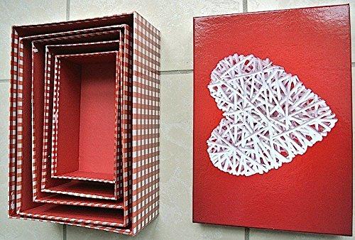 HEKU 792-37 Geschenkbox 5er Set Geschenkkarton 20x30 Kartonage 'Amore'