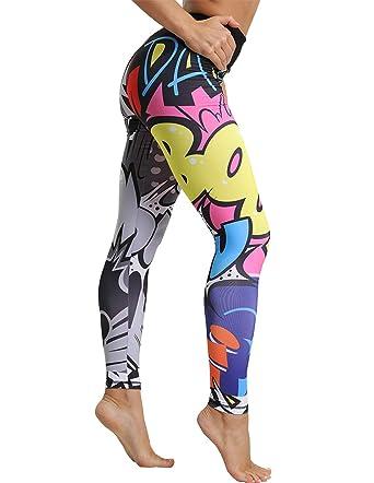 Royaume-Uni jolie et colorée bon marché Legging de Sport Femme, Pantalons de Sports Dessin Animé ...