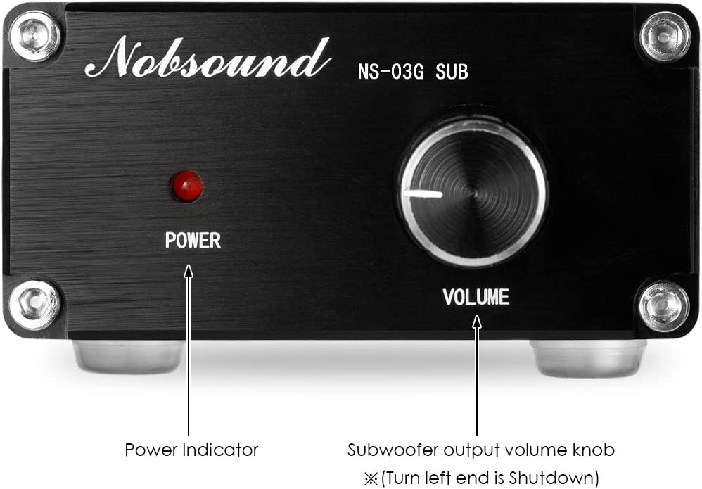 Nobsound 100W Subwoofer Amplifier Digital Power Sub Amp Audio Mini Bass Amp with Power Supply Black