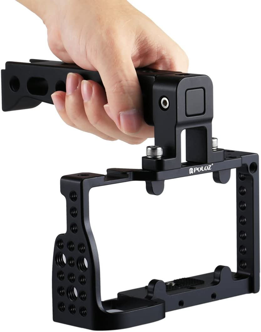 Durable Color : Black Black CAOMING Camera Cage Handle Stabilizer for Sony A6300 // A6000