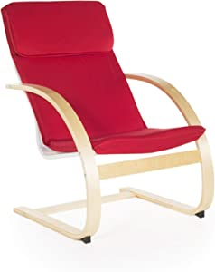 Guidecraft Teachers Rocker Red Chair - School, Living Room Furniture