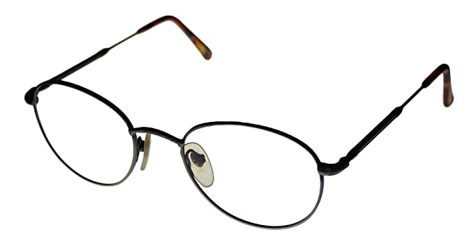 perry ellis ophthalmic modified round metal frame with sun clip pe sg 1000 pewter