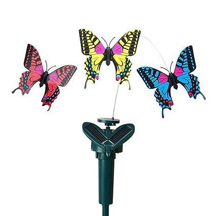 1 juego de mariposas solares de juguete con vibración de energía solar y mariposas de baile, ...