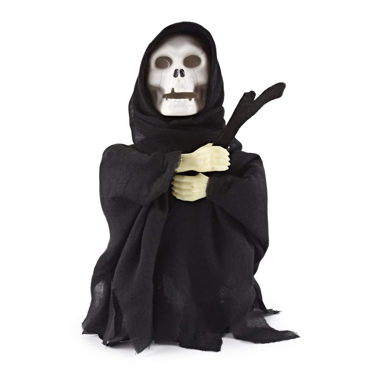 PeeNoke Halloween Animated Dancing Ghost Skeleton Reaper with Light and Creepy Sound Effect