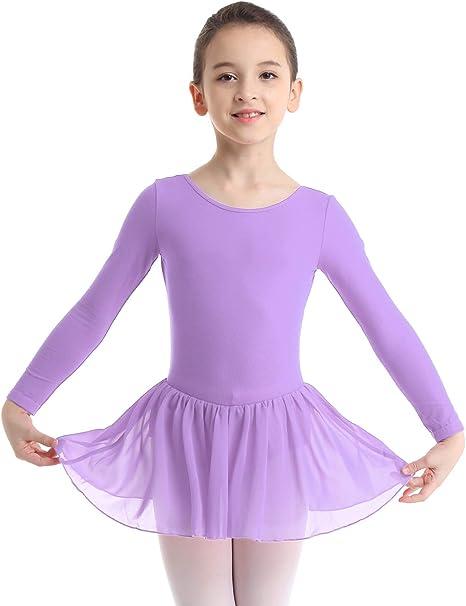 Kids Girls Ballet Leotard Dance Dress Long Sleeve Gymnastics Ballerina Costume