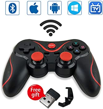 Leton Mando Inalámbrico para Juegos Compatibles con Android/iOS, 2.4GHz Bluetooth Gamepad para PC / PS3 / iPhone/iPad/TV, Controlador de Juego móvil PUBG Mobile Game Controller Joystick movil: Amazon.es: Electrónica