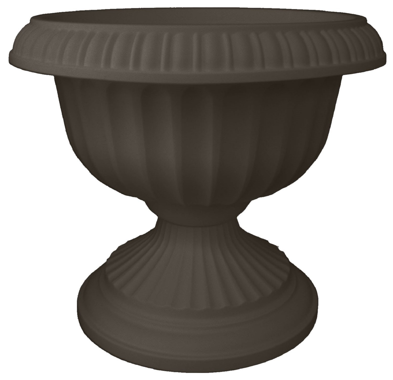 Bloem Grecian Urn Planter, 18'', Peppercorn by Bloem
