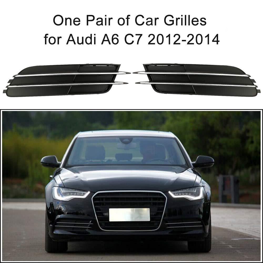 Yangyme Accesorios Especiales Un par de Parrillas de Parachoques Inferiores para Auto para Audi A6 C7 2012-2014