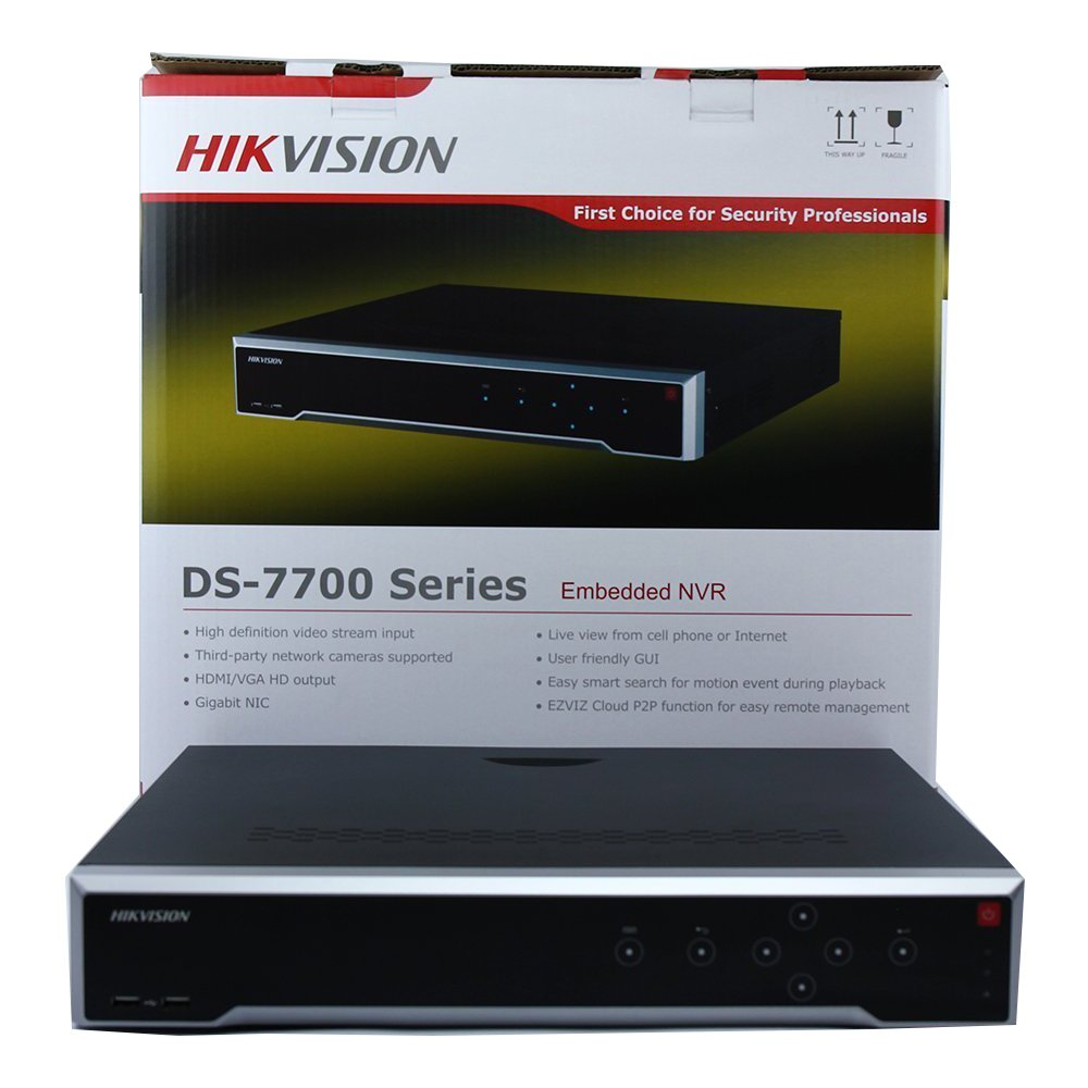 Hikvision Embedded Plug & Play 4K NVR DS-7732NI-I4/16P 32Channel Network Video Recorder Up to 12 Megapixels resolution recording English Version (Can Be Updated)