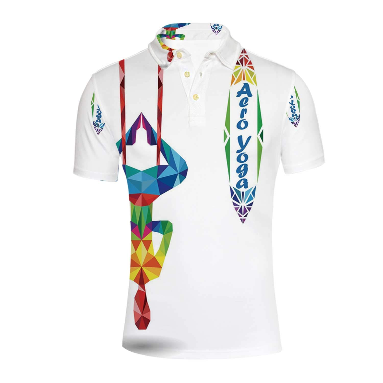 Amazon.com: Yoga Durable Polo Shirt,Aerial Aero Anti Gravity ...