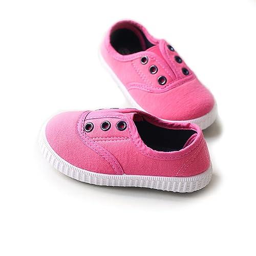 64918a9cd12d Sabe Little Kids Soft Sole Canvas Flats Espadrilles Pump Low Top Casual  Smart Shoes Loafers Trainers