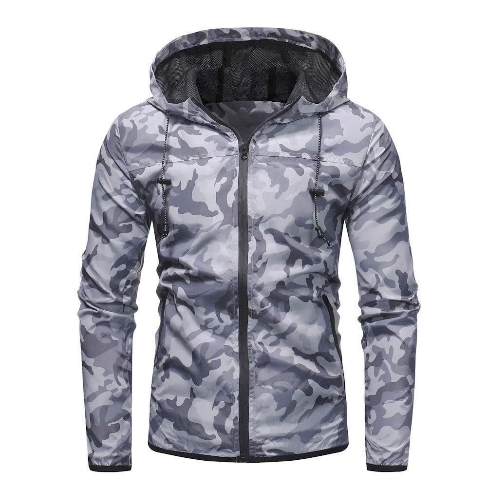 Amazon.com: Sunhusing Autumn Mens Slim Fit Casual Camouflage Printed Pocket Zipper Jacket Outwear Coat: Clothing