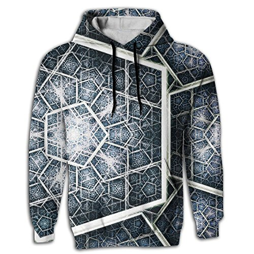 Geometric Patterns Pullover Pocket Full 3D Sublimation Hooded Sweatshirt Fall For Outdoor Sports Comfortable Sweater Yoga Fit Unisex XXL - Roman Tunic Costume Pattern