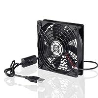 ELUTENG Ventola USB Ventole 120 mm Velocità di 3 gradi Ventole per pc 12 cm 5v Ventola raffreddamento pc usb per PC/PS4/Xbox/TV Box/Projector/Grow box