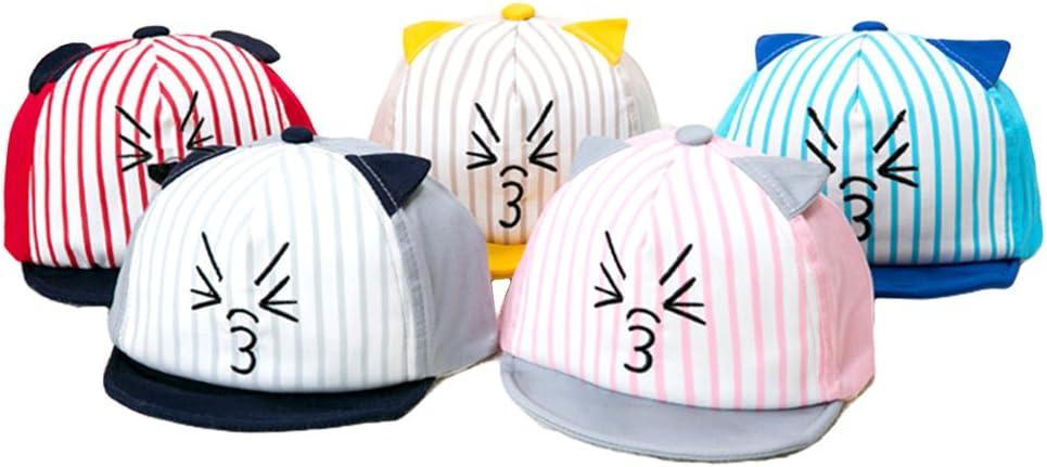 Xiaoyu Unisex Baby Baseball Cap Hat Red Cartoon Cat Sun Hat for Kid Child Infant Toddler