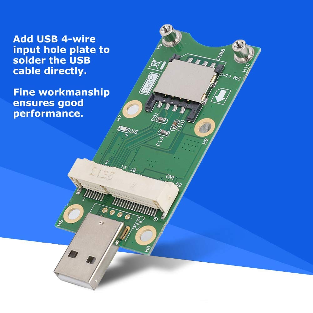 with SIM Card Zopsc Mini PCI-E to USB WWAN Test Adapter Card 3G//4G Module Development Board with ABS Material and The Locking of The Fixed Module.