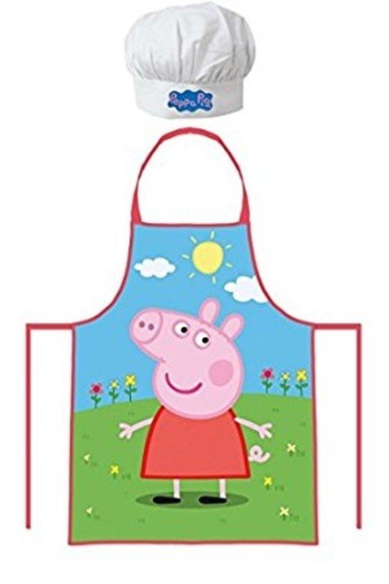 Amazon.com: Kids Peppa Pig Kitchen Apron + Hat/Kitchen Apron: Home ...