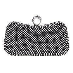 Fawziya Knuckle Clutch Bags For Girls Gandbags Wholesale Purses-Black