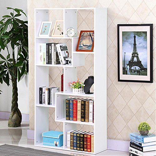 Go2buy Modern Casual Bookcase Multi Cube Bookshelf Hollow Core Display Shelf Storage Shelves Shelving Unit White