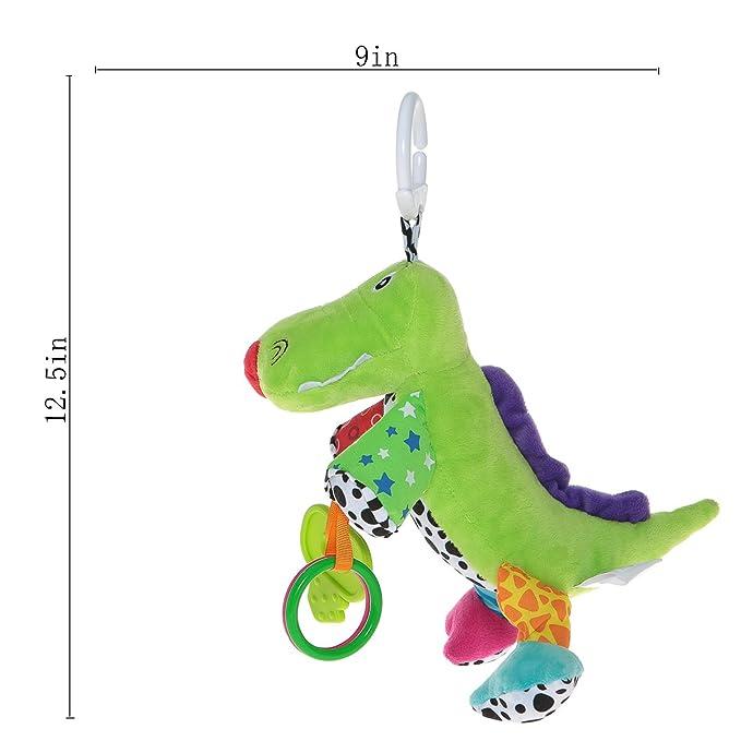 Bebé cochecito juguete con la música 0-3 años de edad bebé desarrollo colgante juguete multifunción dinosaurio: Amazon.es: Bebé