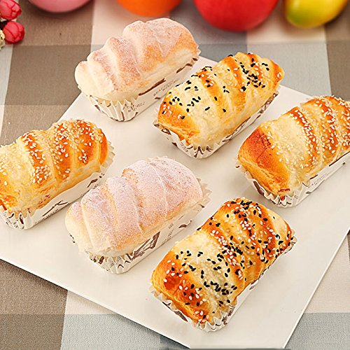 Nice purchase Artificial Cake Fake Simulation Realistic Food Imitation Faux Replica Cake Bread Dessert for Home Kitchen Party Decoration Display Toy Props Real Model 6 PCS ()