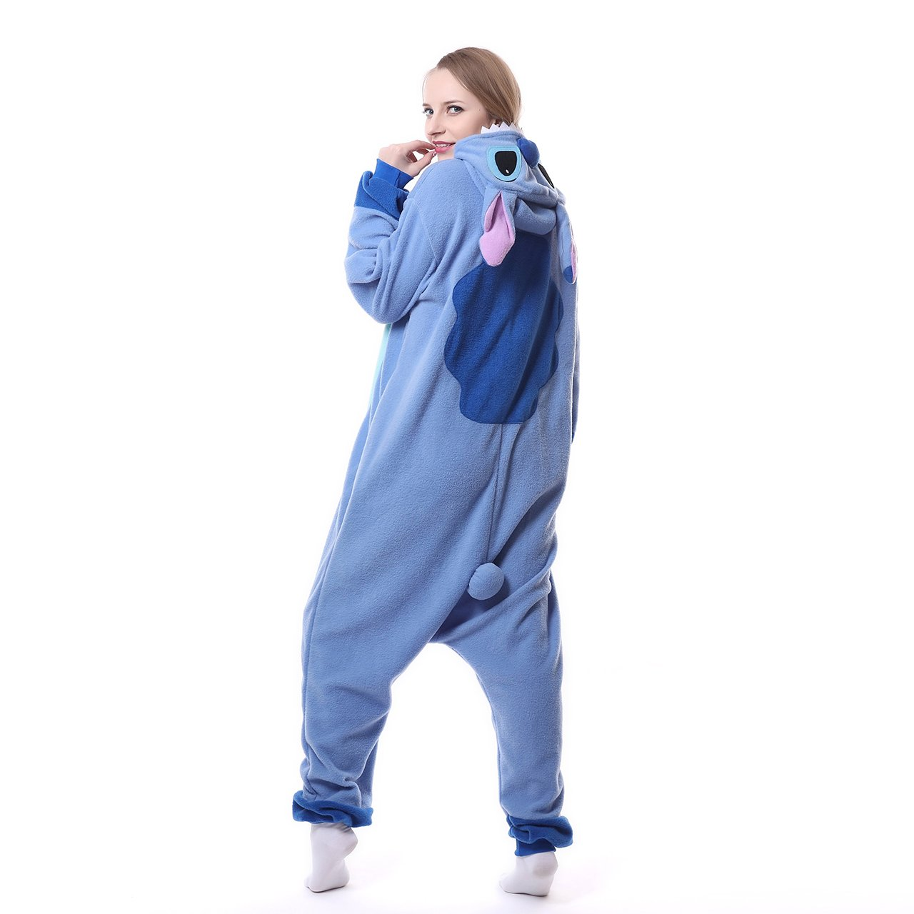 MEILIS Cartoon Sleepsuit Costume Cosplay Lounge Wear Kigurumi Onesie Pajamas Stitch,Birthday or Christmas Gift,Blue by MEILIS (Image #3)