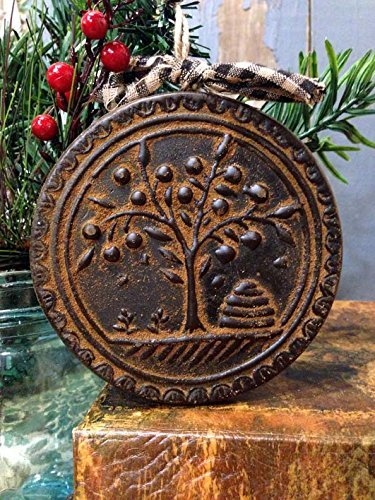 (Blackened Beeswax American Folk Art Beehive Willow Tree Ornament Cinnamon Scented with Saigon Cinnamon)
