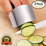 Finger Guard & Protector for Cutting and Chopping - Stainless Steel Slicing Kitchen Tool to Protect Your Fingers (3-Pack)