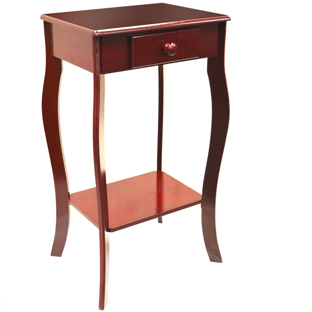 WATSONS KADOKA - Wooden Telephone/End Table with Storage Drawer - Cherry