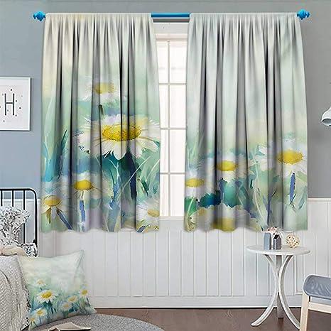 Amazon.com: Cortina de flores de anhounine, cortina opaca ...