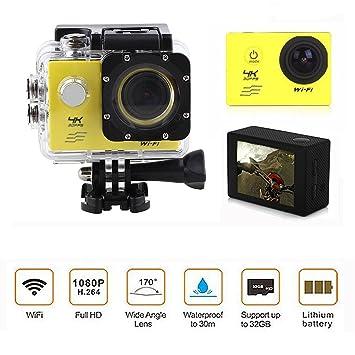 Speedwav 4K UHD DVR 2 inch LCD Waterproof Action Camera with WiFi Steering   Suspension
