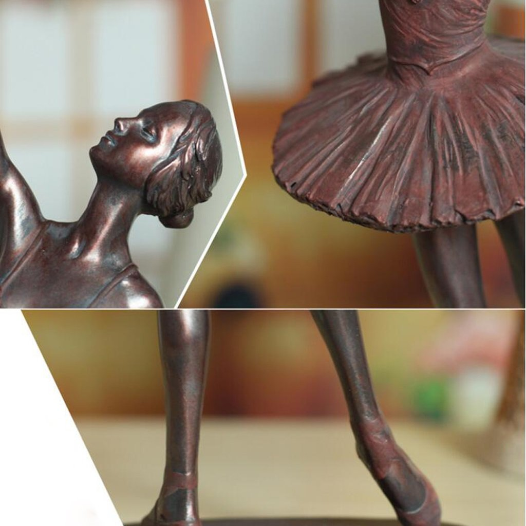 Ballerina Sculpture, Decoration Home Living Room Retro Character Resin European Crafts Home (Color : One Set (6)) by None (Image #5)