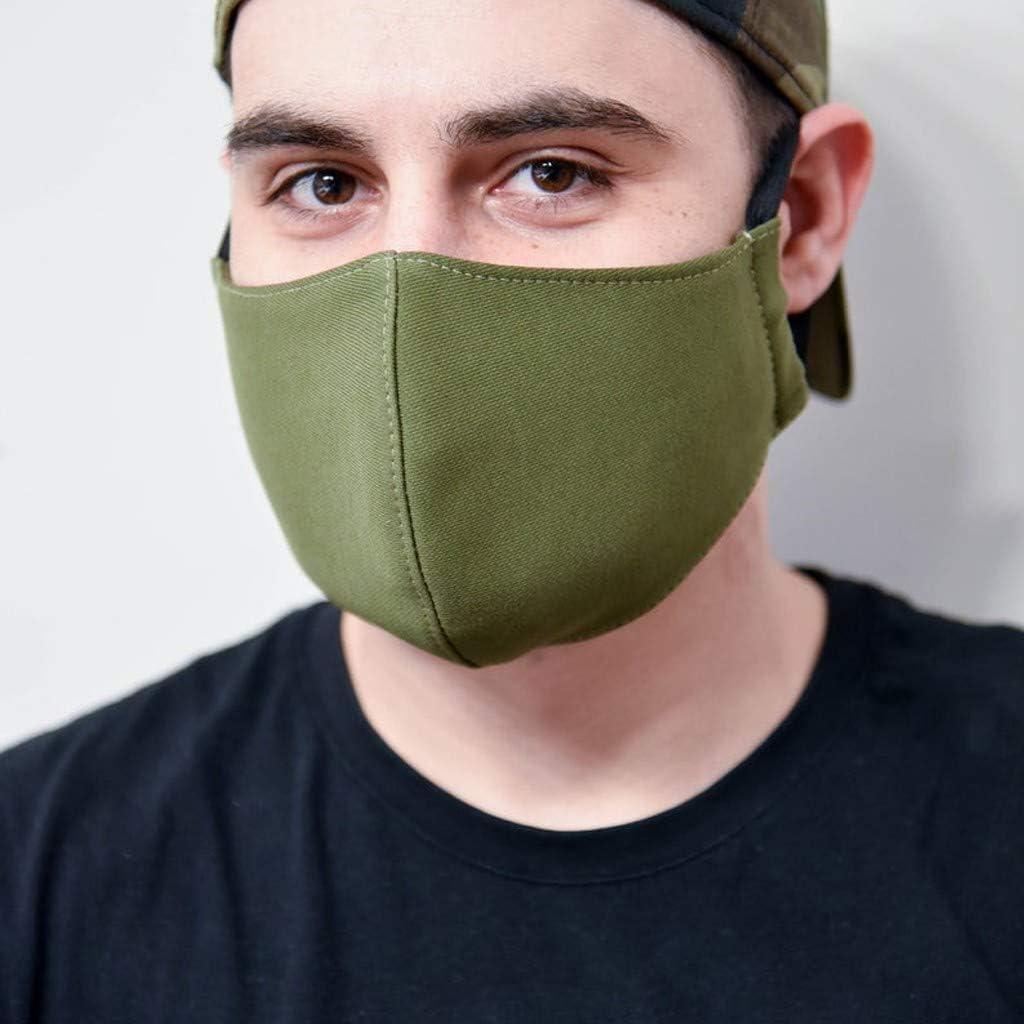 NINGNETI Reutilizable y Lavable Faciales visera con El/ástico para Los O/ídos Antipolvo Antivaho Protector Faciales para Deportes al Aire Libre Pack 1 unidades NKZ-0427A37