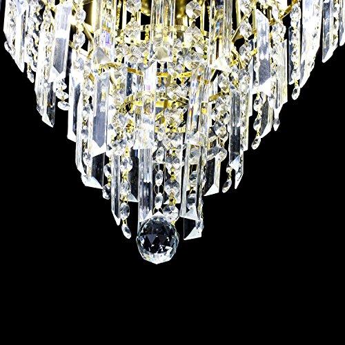 Lightinthebox European-Style Luxury 6 Lights Chandelier In Crown Shape, Crystal Home Ceiling Light Fixture, Pendant Light Chandeliers Lighting for Dining Room, Bedroom, Living Room by LightInTheBox (Image #2)