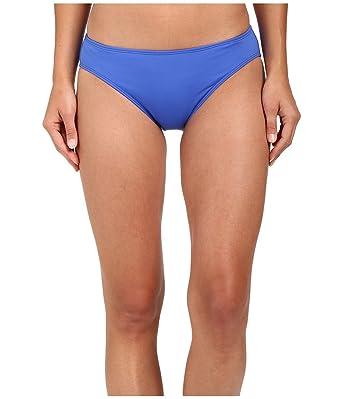 c984841cbbaa0 LAUREN Ralph Lauren Women's Beach Club Solids Solid Hipster w/ Logo Plate  Periwinkle Swimsuit Bottoms