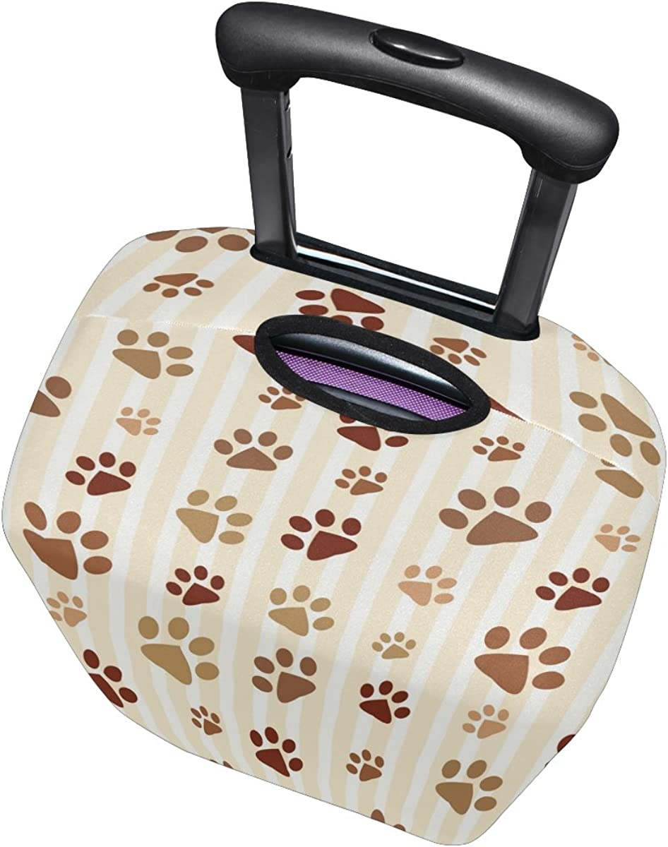 LAVOVO Cat Dog Paws Footprints Luggage Cover Suitcase Protector Carry On Covers