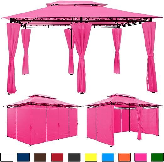 Carpa 4 x 3 m – Jardín Tienda Campaña Carpa en diferentes colores, Rosa: Amazon.es: Jardín