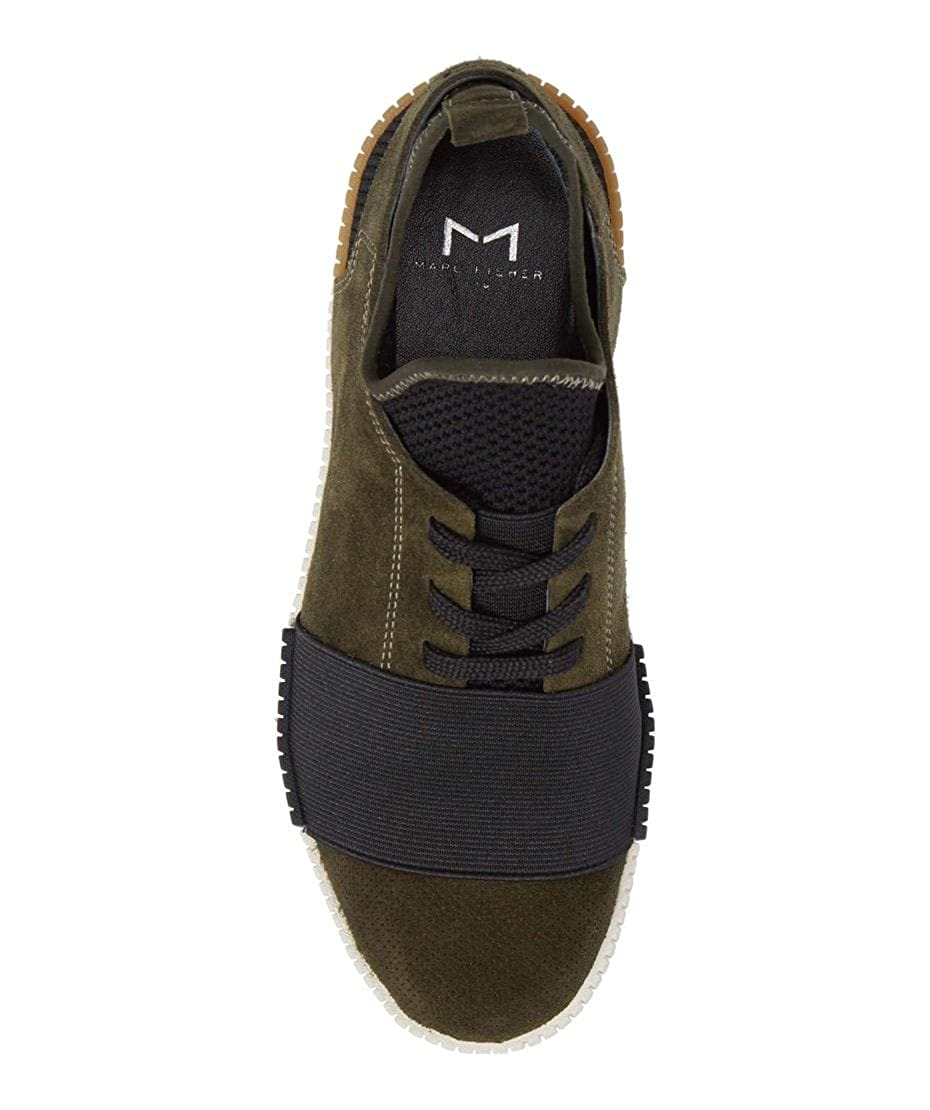Green Size 8.5 Marc Fisher Womens Ryley Hight Top Lace Up Fashion Sneakers