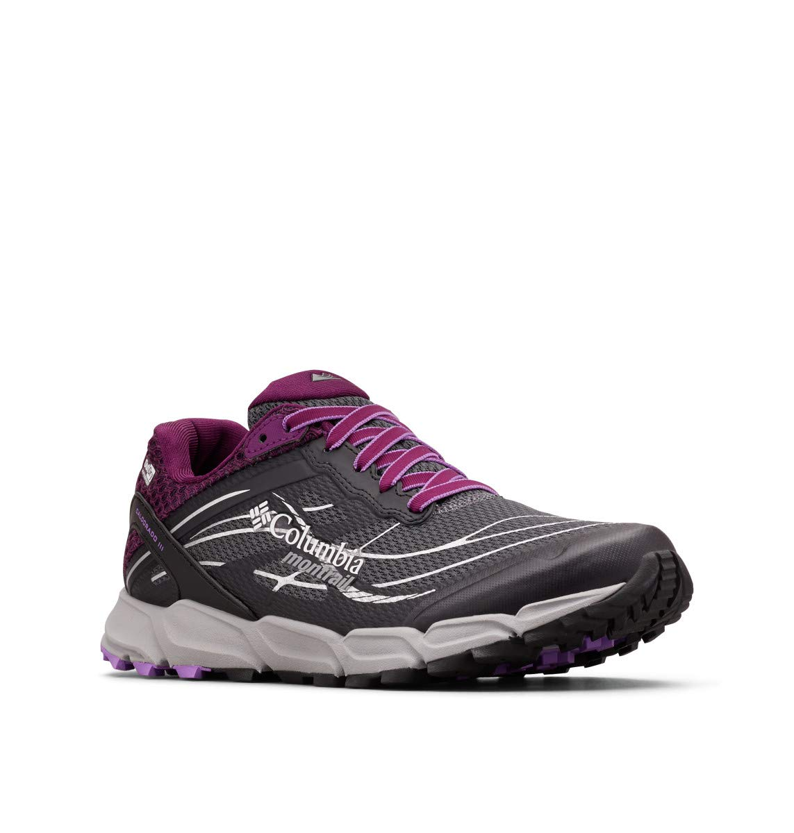 Columbia Montrail Women's CALDORADO III Outdry Sneaker, Graphite/Crown Jewel, 8.5 Regular US by Columbia Montrail