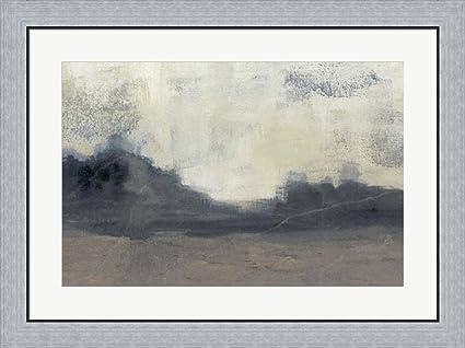 Amazon.com: Mountain Silhouette II by Jennifer Goldberger Framed Art ...