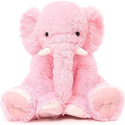 Amazon.com: MaoGoLan Big Pink Elephant Stuffed Animal Soft Elephant Plush  Toy 20'': Toys & Games