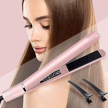 Amazon.com: Rizador y alisador de pelo, profesional de ...