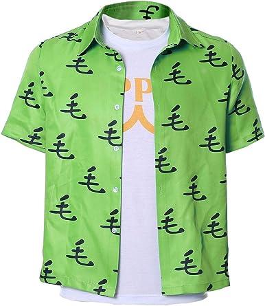 Adulto Disfraz de Cosplay de Saitama de Anime Camisa de Manga Corta + Camiseta con Estampado de Heroe Verde: Amazon.es: Ropa y accesorios