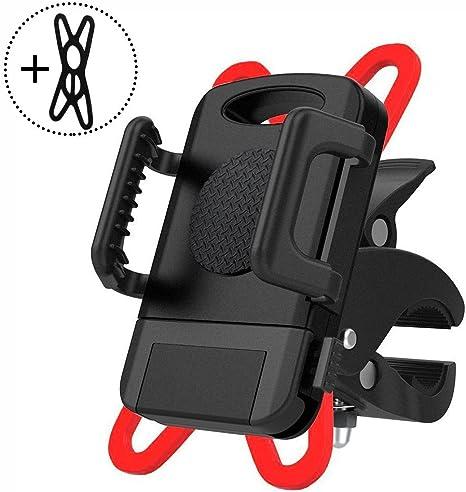 Aokey Soporte para bicicleta, soporte para teléfono móvil de bicicleta, rotación de 360 grados, doble protección, soporte para bicicletas de montaña, motocicleta, iPhone, Android, Smartphone: Amazon.es: Deportes y aire libre