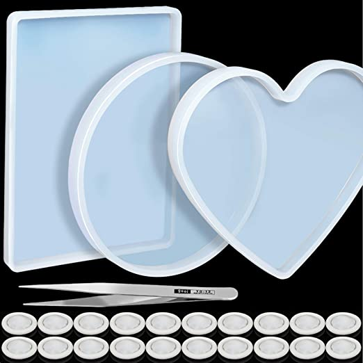 9 silicone mold resin hearts for creations