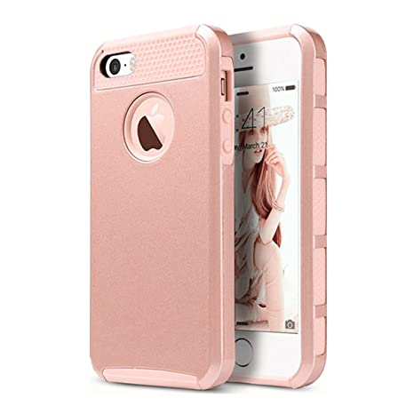 the best attitude 35d50 2f686 iPhone SE Cover Rose Gold: Amazon.in: Electronics